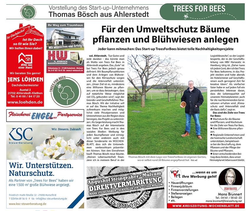 TreesForBees in der Kreiszeitung!😃🌳🐝💪🏻
