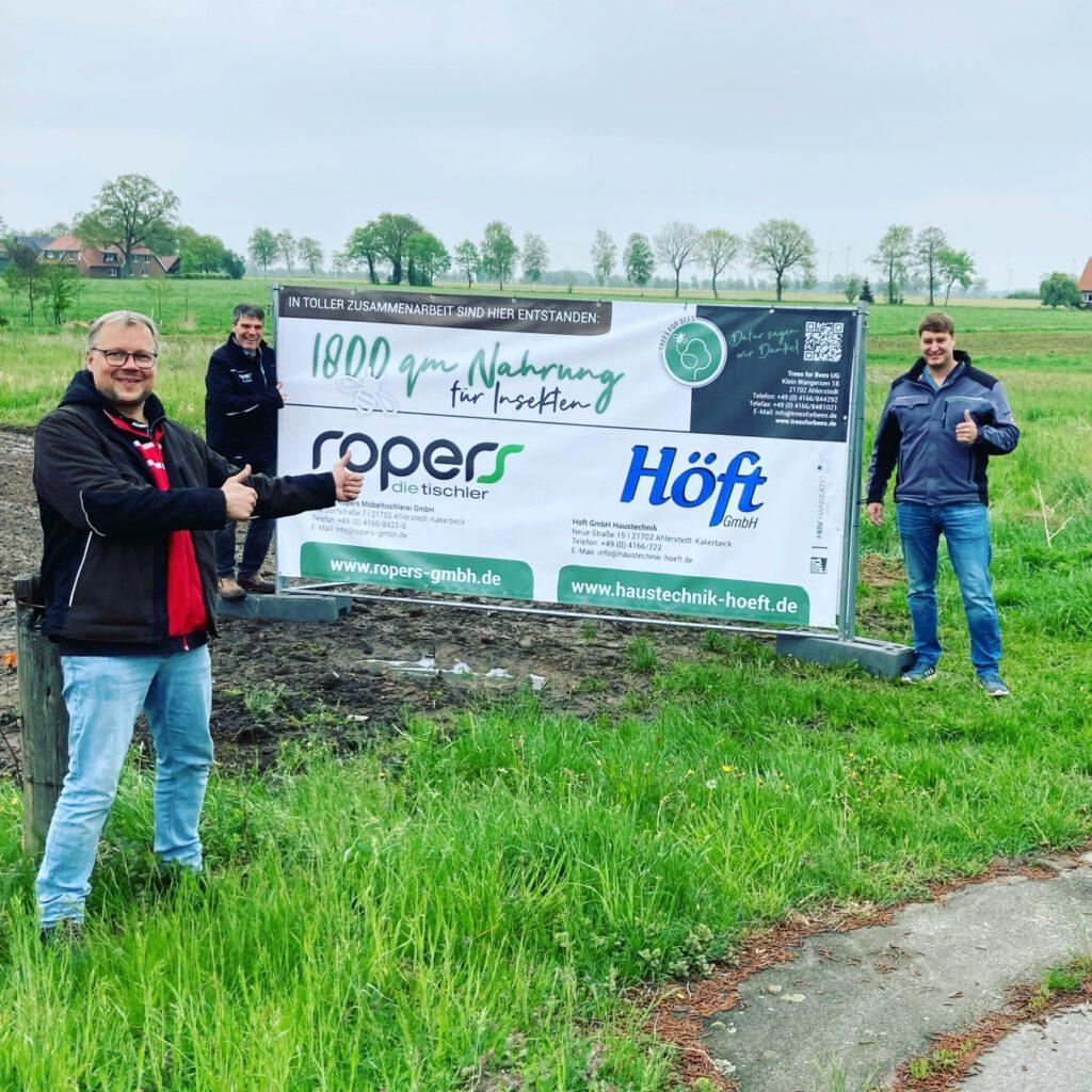 1800qm blühende Zusammenarbeit in Ahlerstedt!