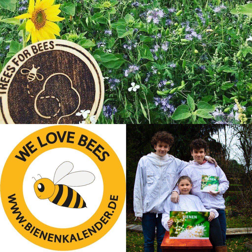Bienenkalender unterstützt TreesForBees!